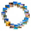 Frame made of summer beach maldives images — Stock Photo #54083725