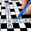 Crossword - Problem and Solution — Stock Photo #54489169