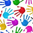Seamless hands background — Stock Photo #54489225
