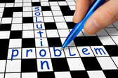 Crossword - Problem and Solution — ストック写真