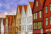 BERGEN, NORWAY - AUGUST 02: UNESCO World Heritage Site - Bryggen — Stock Photo