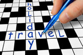 Crossword - Holiday and Travel — Stock Photo