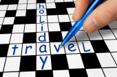 Crossword - Holiday and Travel — Stok fotoğraf