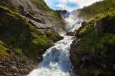 Flam - ノルウェーで巨大なヒョースの滝 — ストック写真