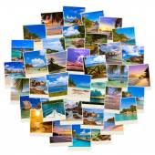 Stapel von sommer strand aufnahmen — Stockfoto