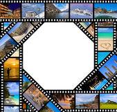 Film with travel photos — Foto de Stock