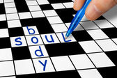 Crossword - Soul and Body — Stockfoto