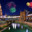 Fireworks in Sevilla Spain — Stock Photo #55341287