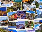 Stack of Norway travel shots — Stockfoto