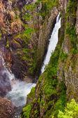 Waterfall Voringfossen in Hardanger Norway — Stock Photo