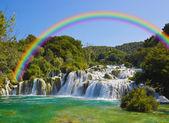 Waterfall KRKA in Croatia — Stock Photo