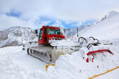 Machine for skiing slope preparations at Kaprun Austria — Stock Photo