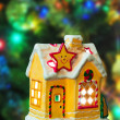 Lighting house and christmas tree — Stock Photo #56063087