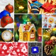 Collage of christmas images — Stock Photo #56063125