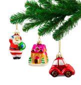 Christmas tree and toys — Stock Photo