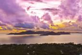 Island Praslin Seychelles at sunset — Foto Stock