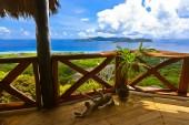 Isla praslin en seychelles — Foto de Stock