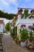 Rua no centro antigo de stavanger - noruega — Foto Stock