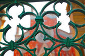 Church and ornate gates — Stock Photo