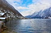 Village Hallstatt on the lake - Salzburg Austria — Stock Photo