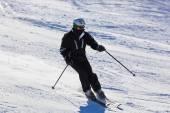 Narciarz w górach ski resort bad gastein - austria — Zdjęcie stockowe