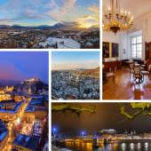 Collage of Salzburg Austria images — Stock Photo