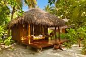 Beach bungalow - Maldives — Stock Photo