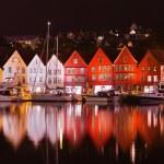 Famous Bryggen street in Bergen - Norway — Stock Photo #57431817