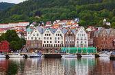 Famous Bryggen street in Bergen - Norway — Stock Photo