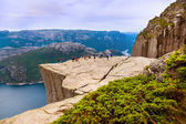 Preachers Pulpit Rock in fjord Lysefjord - Norway — Stock Photo
