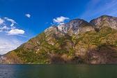 Fjord Naeroyfjord in Norway - famous UNESCO Site — Stock Photo