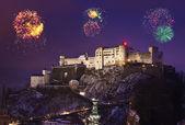 Fuochi d'artificio a Salisburgo Austria — Foto Stock