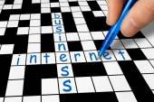 Crossword - Business and Internet — Photo