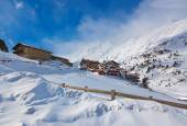 Mountain ski resort obergurgl österrike — Stockfoto