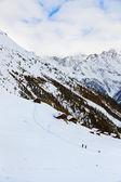 Houses at mountains - ski resort Solden Austria — Stock Photo