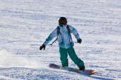 Skier at mountains ski resort Innsbruck - Austria — Stock Photo