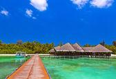 Cafe on tropical Maldives island — Stock fotografie