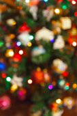 Blurred photography christmas tree - holiday background — Stock Photo
