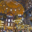 Hagia Sophia interior at Istanbul Turkey — Stock Photo #59511747