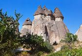 Fairy chimneys (rock formations) at Cappadocia Turkey — Stock Photo