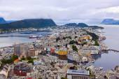 Cityscape of Alesund Norway — Stock Photo