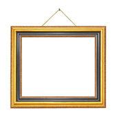 Retro frame on rope — Stock Photo