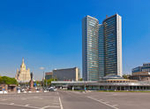 """MOSCOW, RUSSIA - MAY 01: """"Open Book"""" Building of Former Secretar — Stock Photo"""