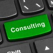 Computer notebook keyboard with Consulting key — Stock Photo #60415615