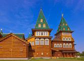 Wooden palace of Tsar Alexey Mikhailovich in Kolomenskoe - Mosco — Stock Photo