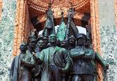 Mustafa Kemal Ataturk statue in Istanbul Turkey — Stock Photo