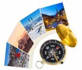 Montañas de esquí brújula e imágenes de austria — Foto de Stock