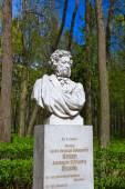 Poet Pushkin sculpture in Museum-Estate Arkhangelskoye - Moscow  — Stock Photo