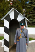 KOLOMNA, RUSSIA - MAY 03, 2014: Guard in the form of the 19th ce — Stock Photo