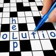 Crossword - Help and Solution — Stock Photo #63033155